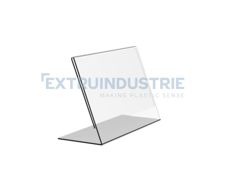 Acrylic L-Display horizontal