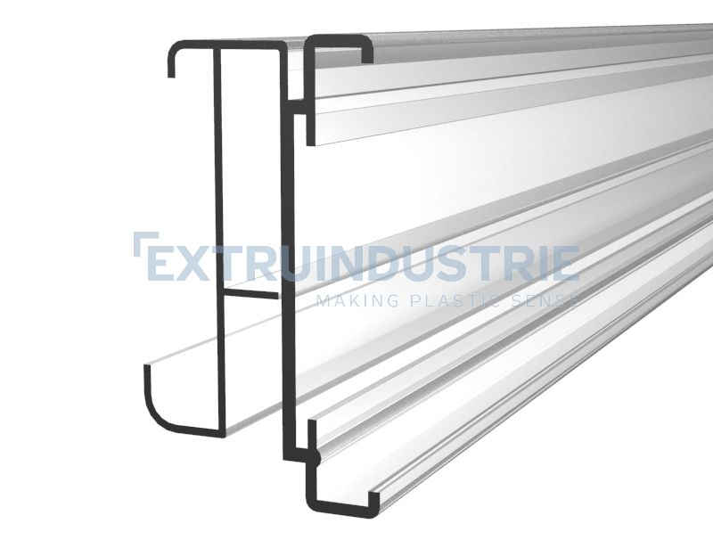 ESL profile for Tegometall shelves with soft hinge