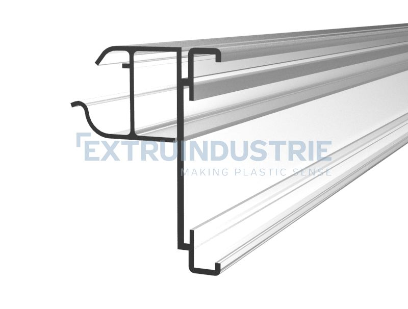 ESL profile for Wanzl (Wire-Tech) wire shelves with soft hinge