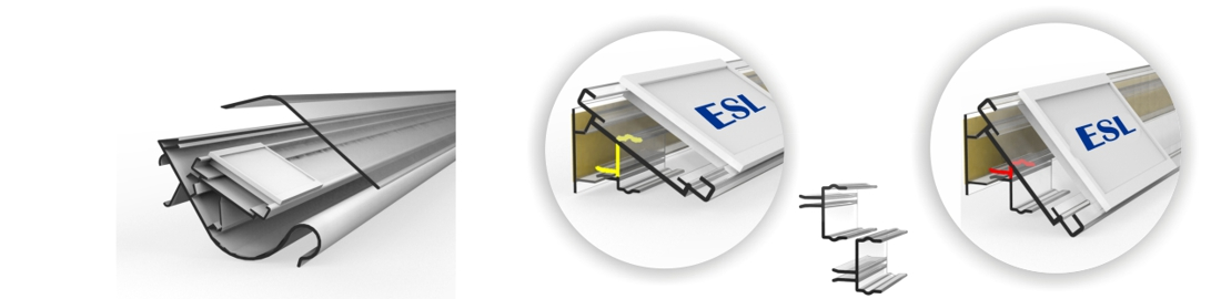 Smart solutions for attachment of ESL tags onto the shelves
